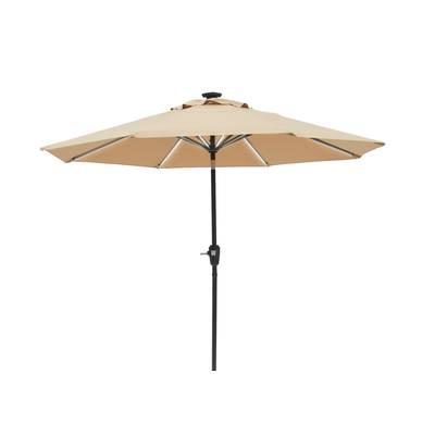 Trademark Innovations 9' Lighted Umbrella & Reviews (View 5 of 25)