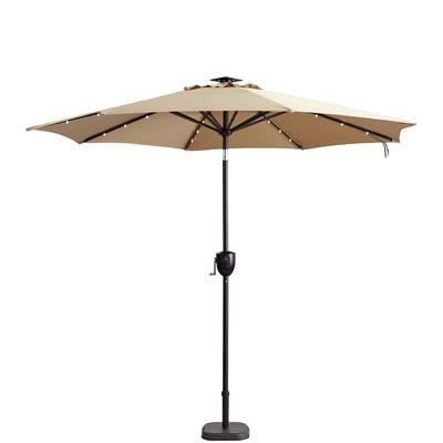 Featured Photo of Hettie Solar Lighted Market Umbrellas