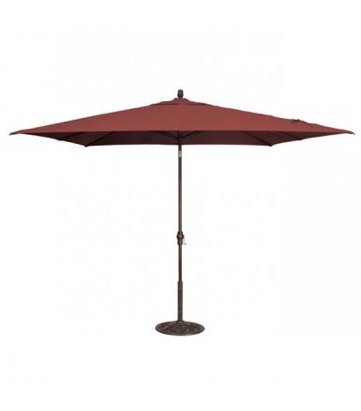 Treasure Garden 8' X 10' Rectangular Market Umbrella – Henna Within Well Liked Market Umbrellas (View 20 of 25)