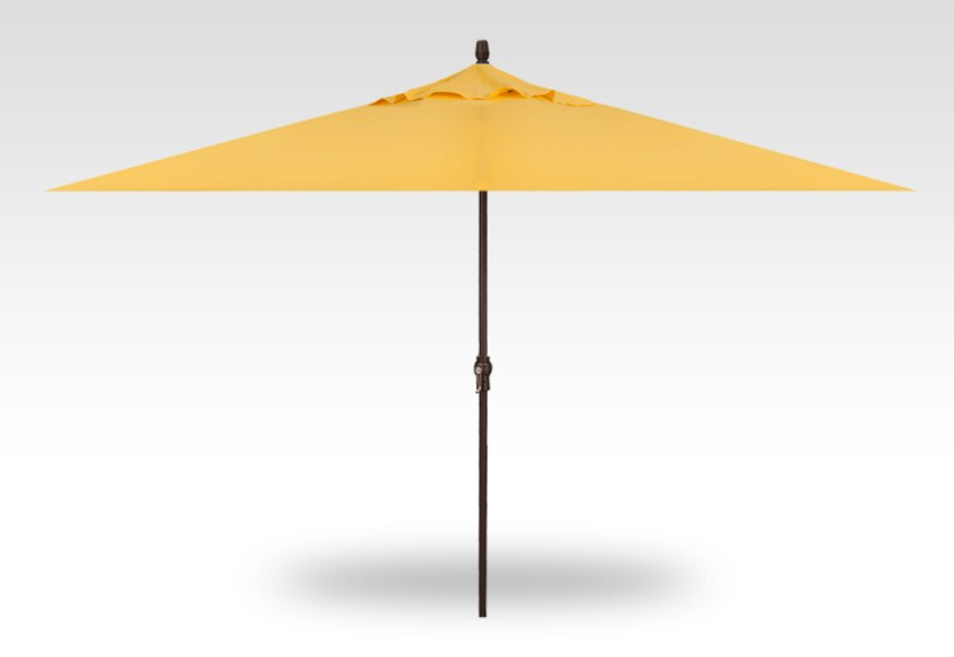 Treasure Garden Rectangular No Tilt Crank Lift Umbrella Red Parasol Within Most Popular Wiechmann Market Sunbrella Umbrellas (View 20 of 25)