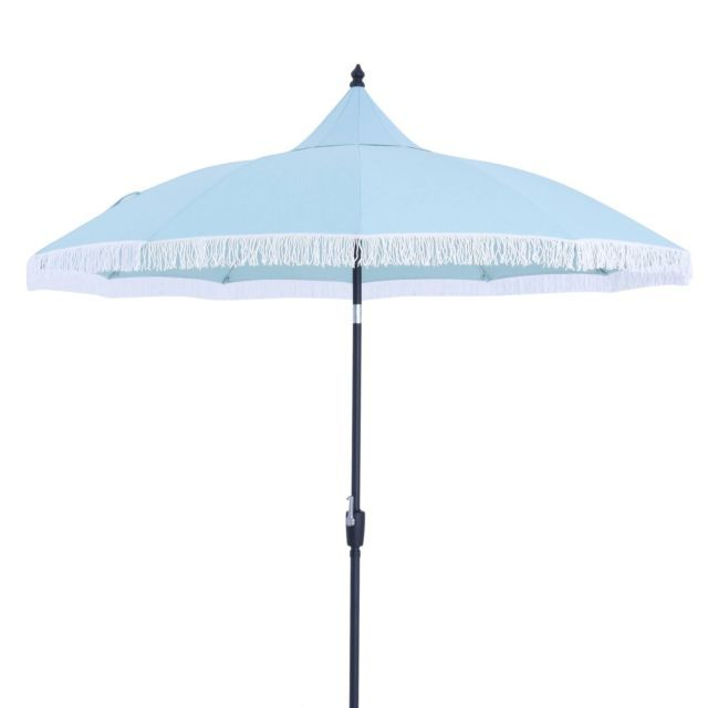 Trendy Crediton Market Umbrellas Intended For New 9 Feet Round Carousel Outdoor Garden Patio Umbrella – Threshold (View 12 of 25)