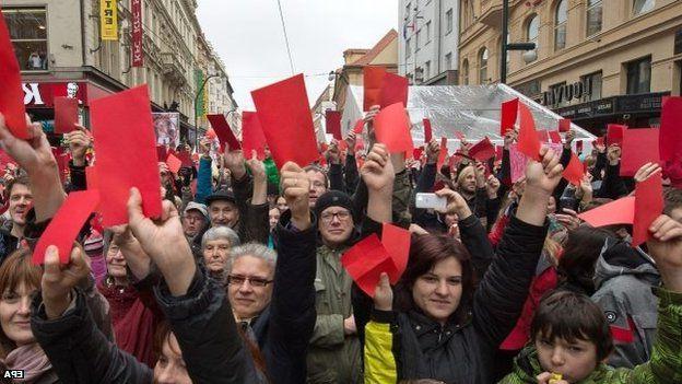 Trendy Czech President Pelted With Eggs On Revolution Anniversary – Bbc News Regarding Zeman Market Umbrellas (View 24 of 25)