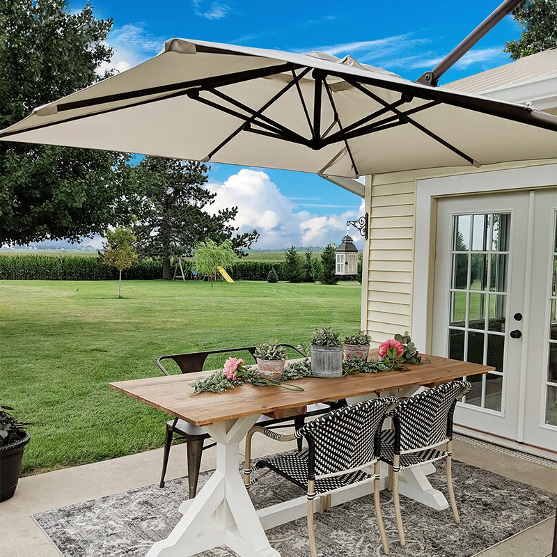 Trendy Fordwich  Rectangular Cantilever Umbrellas Pertaining To Fordwich 8' X 10' Rectangular Cantilever Umbrella (View 6 of 25)