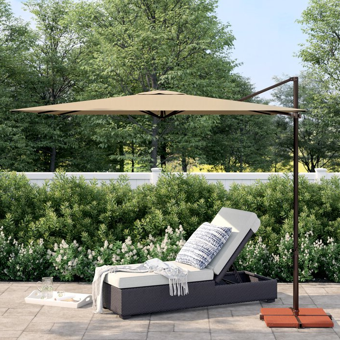 Trendy Grote Liberty Aluminum Square Cantilever Umbrellas Regarding Cora  (View 12 of 25)