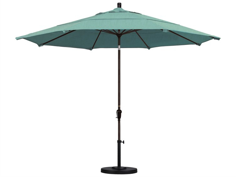 Trendy Haverhill Umbrellas For California Umbrella Sunset Series 11 Foot Octagon Market Aluminum Umbrella  With Crank Lift System (View 10 of 25)