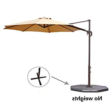 Trendy Jaelynn Cantilever Umbrellas Pertaining To 12 Best Patio Umbrella Reviews: Top Quality Outdoor Umbrellas In  (View 13 of 25)