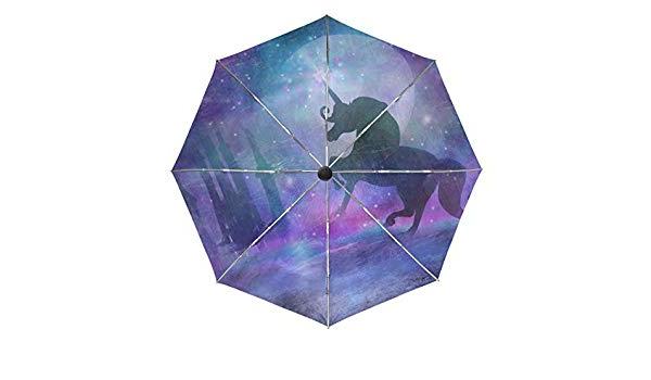 Trendy Pau Rectangular Market Umbrellas For Amazon : Magical Unicorn Myth Stars Dream Castle Automatic (View 15 of 25)