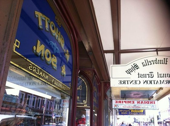 Trendy Store Entrance – Picture Of The Old Umbrella Shop, Launceston Inside Launceston Market Umbrellas (View 22 of 25)