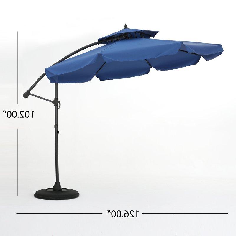 Trendy Tallulah Sunshade Hanging Outdoor Cantilever Umbrellas In Simplot Outdoor Sunshade  (View 6 of 25)