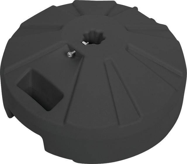 """Trendy Umbrella Base, 16"""" Diameter, Plastic Black Pertaining To Madalyn Rectangular Market Sunbrella Umbrellas (View 24 of 25)"""
