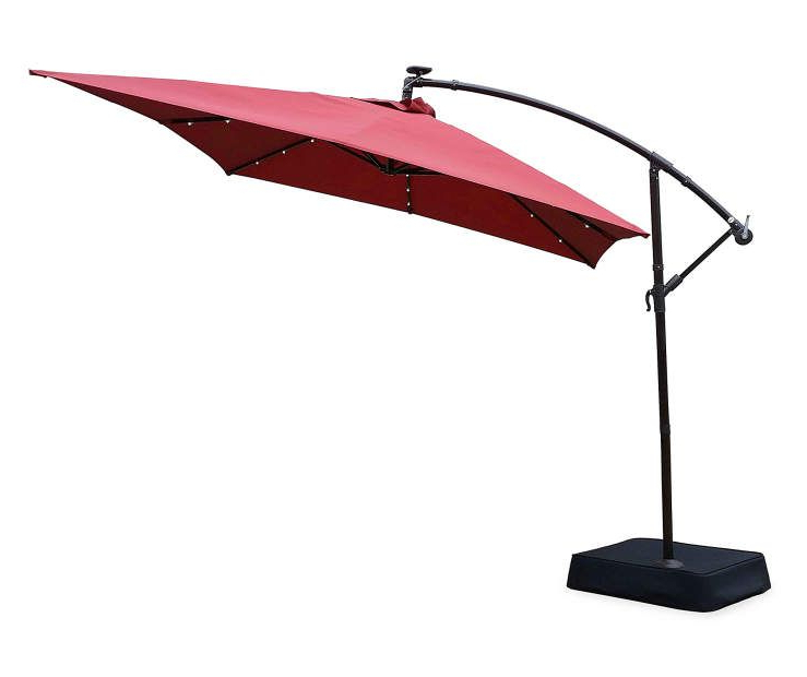 Trendy Yajaira Cantilever Umbrellas In Rectangular Offset Solar Light Umbrella, (11' X 8') At Big Lots (View 13 of 25)