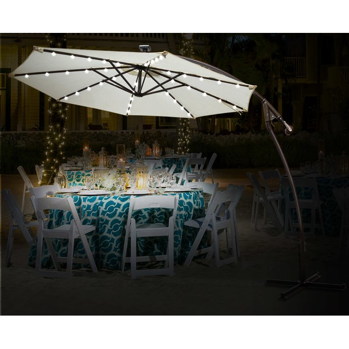 Trendy Yajaira Cantilever Umbrellas With Regard To Flavin 9' Patio Cantilever Umbrella (View 14 of 25)