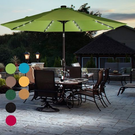 Trendy Zadie Twin Rectangular Market Umbrellas With Regard To If You're Looking To Add A Little Light And Ambience To Your Next (View 18 of 25)