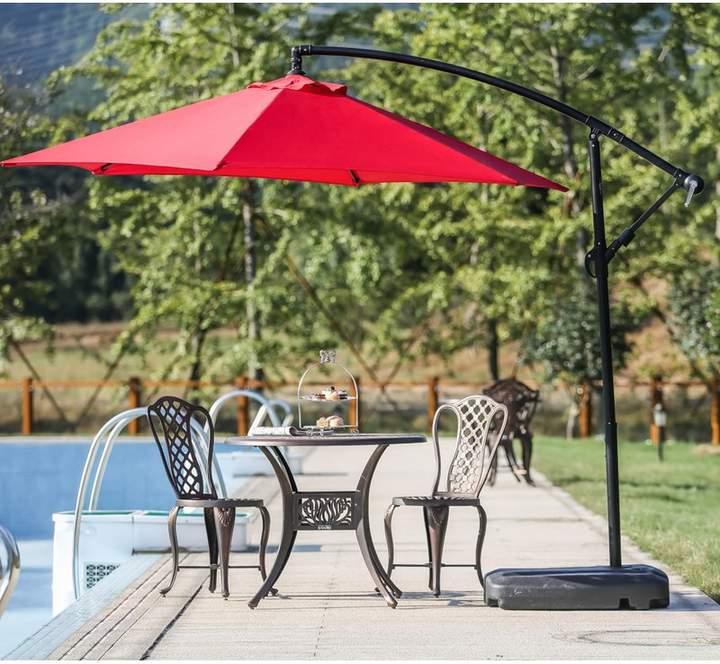 Trendy Zipcode Design Amaris 9' Cantilever Umbrella In  (View 6 of 25)