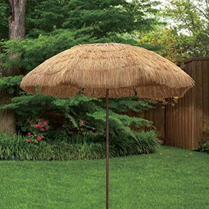 Tropical Patio Umbrellas Inside Famous Bayside21 Tiki Umbrella 6.5' Thatch Patio Umbrella Tropical Palapa Raffia Tiki Hut Hawaiian Hula Beach Umbrella With Tilt ( (View 2 of 25)