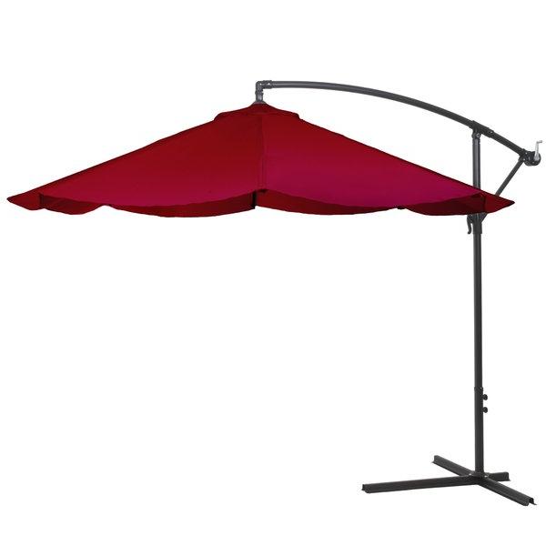 Vassalboro 10' Cantilever Umbrella Intended For Well Known Vassalboro Cantilever Umbrellas (View 12 of 25)