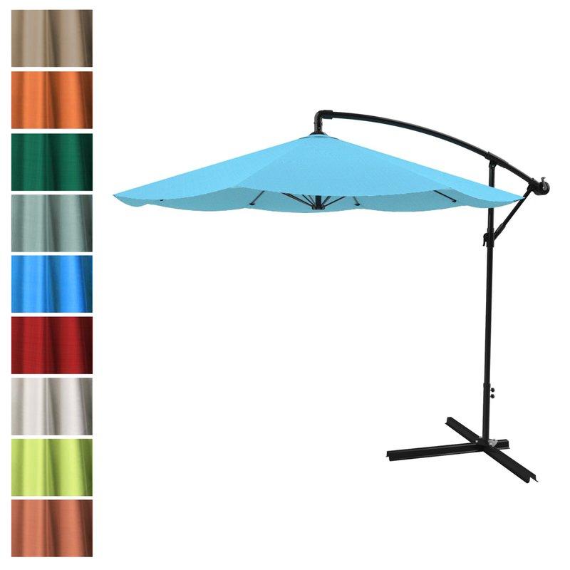Vassalboro Cantilever Umbrellas Inside Most Popular Vassalboro 10' Cantilever Umbrella (Gallery 3 of 25)