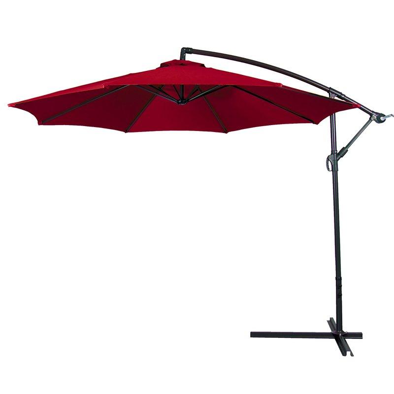 Vassalboro Cantilever Umbrellas Inside Widely Used Bormann 10' Cantilever Umbrella (View 18 of 25)