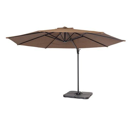 Vassalboro Cantilever Umbrellas Throughout Preferred Found It At Allmodern – 12' Round Cantilever Patio Umbrella (View 20 of 25)