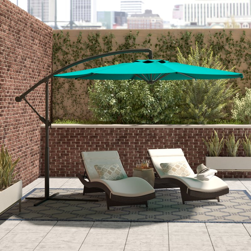 Vassalboro Cantilever Umbrellas With Well Liked Freda 9.5' Cantilever Umbrella (Gallery 18 of 25)