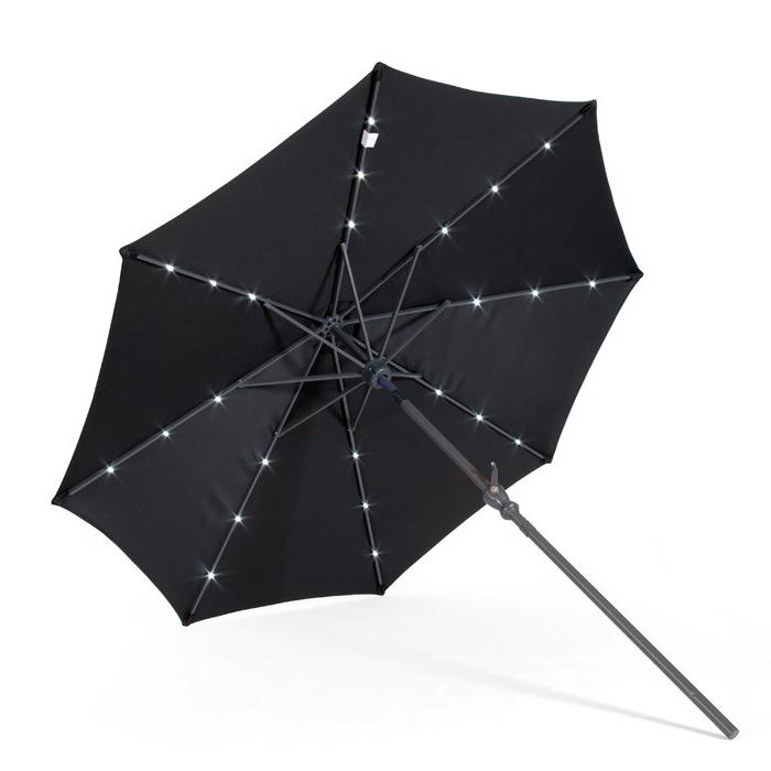 Venice Lighted Umbrellas Inside Popular Venice 9' Lighted Umbrella (Gallery 2 of 25)
