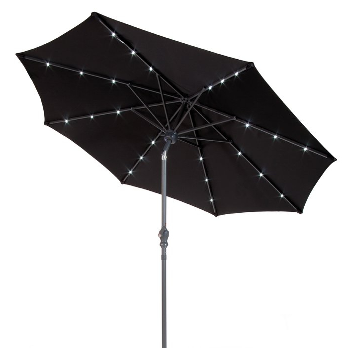 Venice Lighted Umbrellas Pertaining To Newest Venice 9' Lighted Umbrella (Gallery 1 of 25)