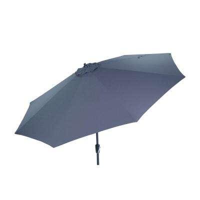 Venice Lighted Umbrellas With Regard To Well Known 10 Ft. Aluminum Market Patio Umbrella In Sunbrella Spectrum Denim With Auto  Tilt (Gallery 12 of 25)