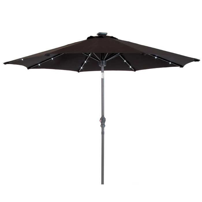Venice Lighted Umbrellas Within Well Liked Venice 9' Lighted Umbrella (View 3 of 25)