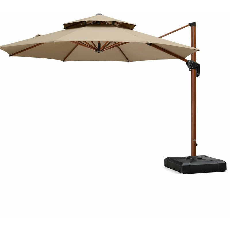 Voss Cantilever Sunbrella Umbrellas intended for Most Up-to-Date Voss 11' Cantilever Sunbrella Umbrella