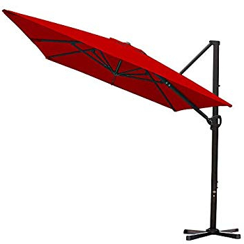 Voss Cantilever Sunbrella Umbrellas pertaining to Most Recently Released Amazon : Le Papillon 10 Ft Cantilever Umbrella Outdoor Offset