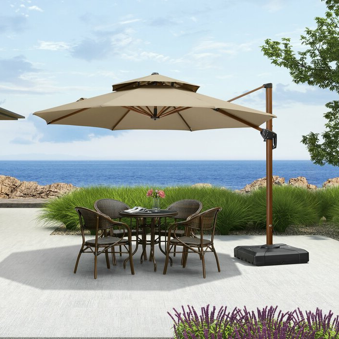 Voss Cantilever Sunbrella Umbrellas with Best and Newest Voss 11' Cantilever Sunbrella Umbrella