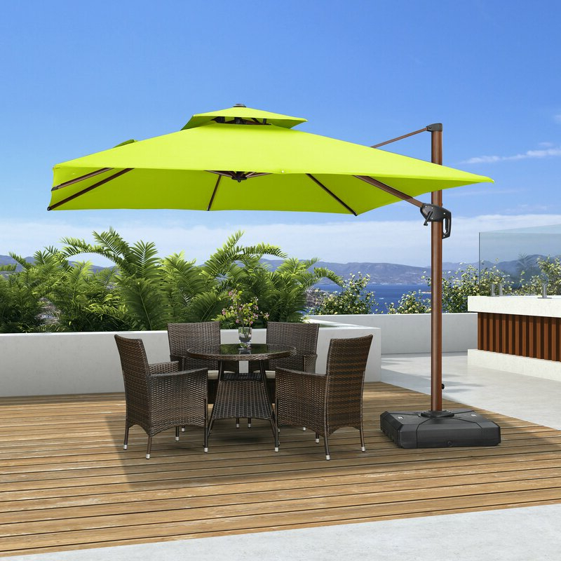 Waddell 10' Square Cantilever Umbrella Throughout Preferred Emely Cantilever Umbrellas (View 20 of 25)