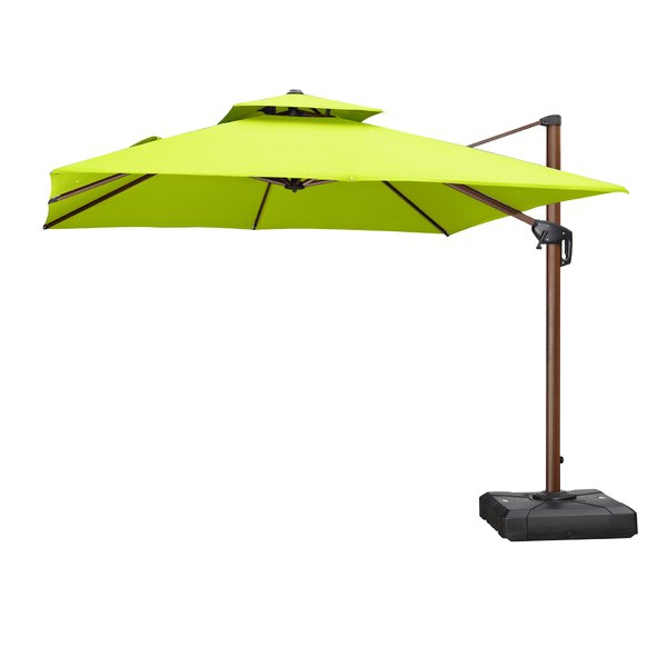 Waddell 10' Square Cantilever Umbrella With Regard To Well Liked Maglione Fabric Cantilever Umbrellas (View 22 of 25)