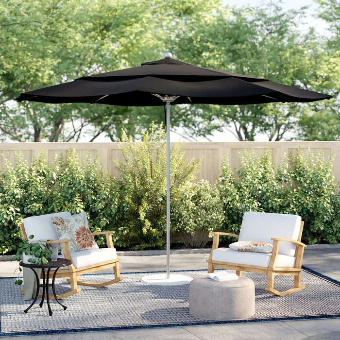 Wallach Market Sunbrella Umbrellas Intended For Widely Used Caravelle 11' Market Sunbrella Umbrella (View 21 of 25)