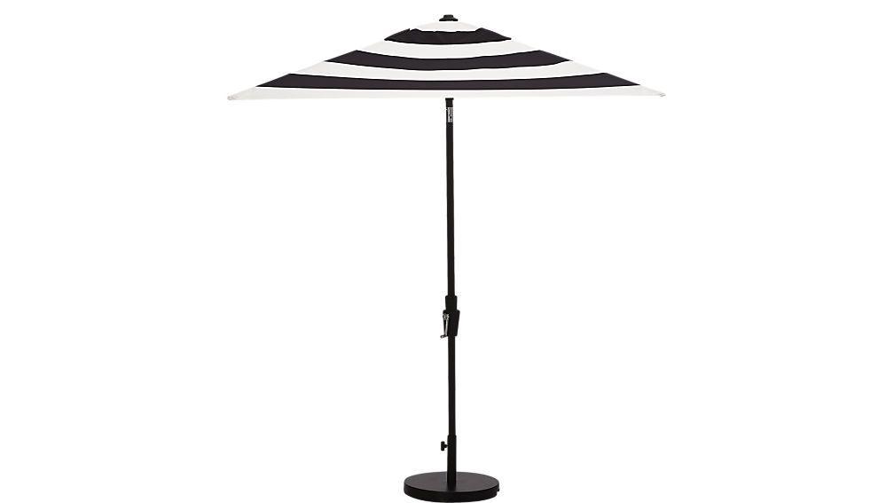 Wallach Market Sunbrella Umbrellas With Regard To Newest Shadow Black And White Stripe Umbrella Shade (View 21 of 25)