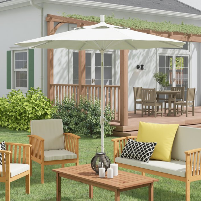 Wallach Market Sunbrella Umbrellas With Well Known Wallach 9' Market Umbrella (View 18 of 25)