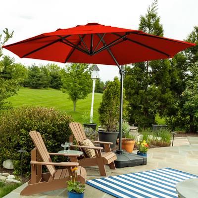 Wayfair For 2018 Tallulah Sunshade Hanging Outdoor Cantilever Umbrellas (View 21 of 25)