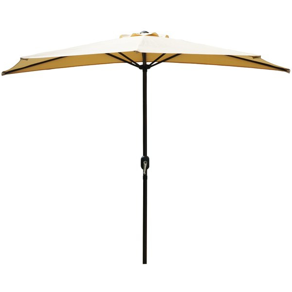Wayfair In Monty Half Market Umbrellas (View 21 of 25)