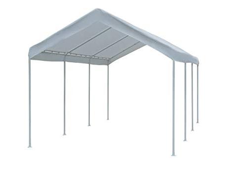 Well Known Abba Patio 10 X 20 Feet Outdoor Carport With Steel Legs, White Inside Monty Half Market Umbrellas (View 24 of 25)