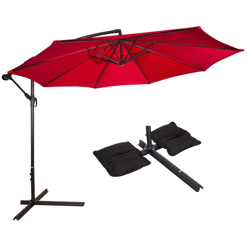 Well Known Alyssa Cantilever Umbrellas Within Meranda 2' Cantilever Umbrella (View 24 of 25)