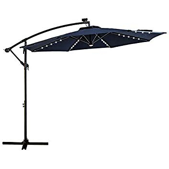Well Known Amazon : Best Choice Products 10Ft Solar Led Offset Patio Within Elaina Cantilever Umbrellas (View 20 of 25)