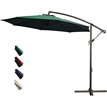 Well Known Amazon : Kingyes 10Ft Patio Offset Cantilever Umbrella Market In Kizzie Market Cantilever Umbrellas (View 24 of 25)