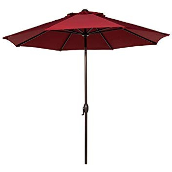 Well Known Amazon : Le Papillon 15 Ft Market Outdoor Umbrella Double Sided Within Lagasse Market Umbrellas (View 10 of 25)