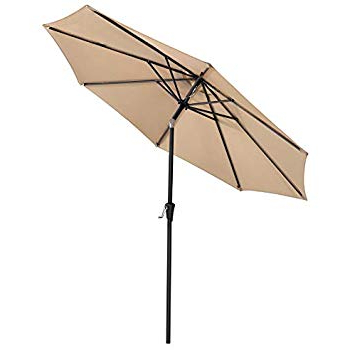 Well Known Amazon : Le Papillon 9 Ft Outdoor Patio Umbrella Aluminum Table For Sittard Market Umbrellas (View 25 of 25)