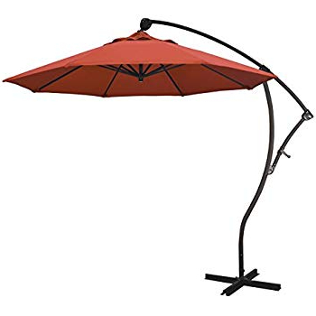 Well Known Bayside Series Cantilever Umbrellas For Amazon : March California Umbrella 9' Bayside Series Cantilever (View 2 of 25)