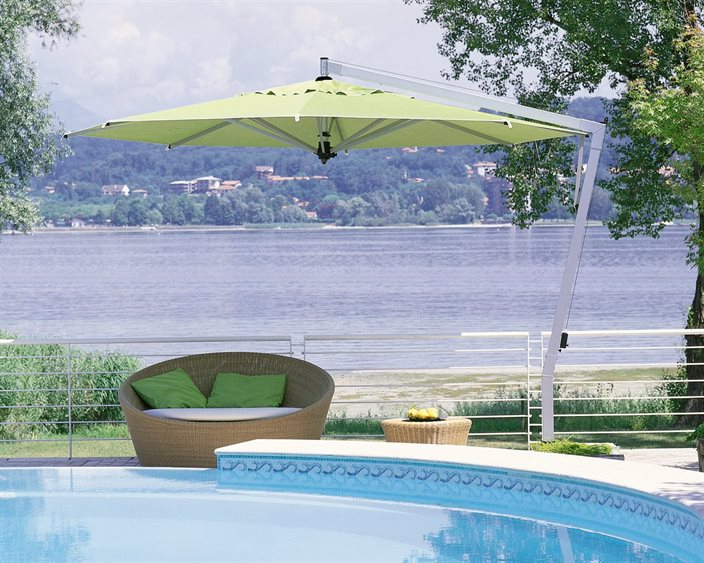 Well Known Bayside Series Cantilever Umbrellas For Fim P Series Aluminum 13' Octagon Cantilever Umbrella (View 9 of 25)