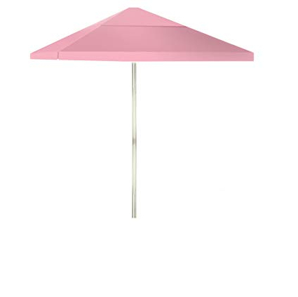 Well Known Best Of Times 1020W1325 Solid Pink 8 Ft Tall Square Market Umbrella, One Size Within Solid Market Umbrellas (View 21 of 25)