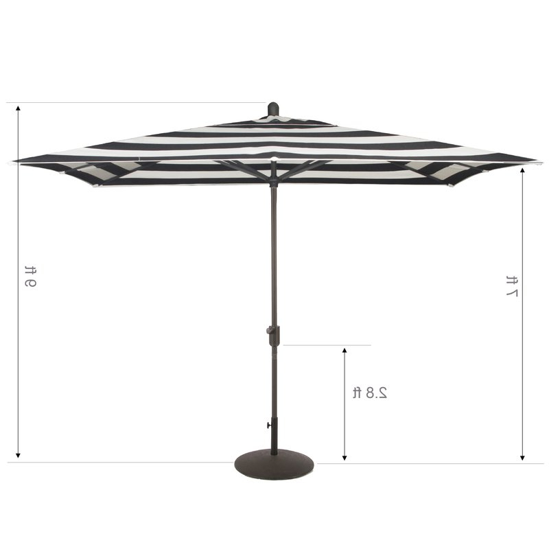 Well Known Bonview Rectangular Market Umbrellas Intended For Wieczorek Auto Tilt 10' X  (View 4 of 25)