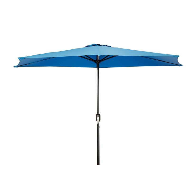 Well Known Dade City North Half Market Umbrellas Within Julewitz Patio Half 9' Market Umbrella (View 25 of 25)