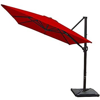 Well Known Desmond  Rectangular Cantilever Umbrellas With Regard To Amazon : Abba Patio 912 Feet Rectangular Offset Cantilever (View 3 of 25)